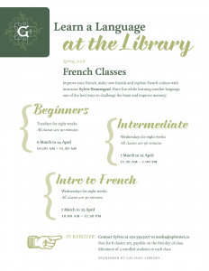 French Classes - Galiano Is. Library @ Galiano Island Community Library