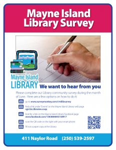 Mayne Library Survey poster June 2018
